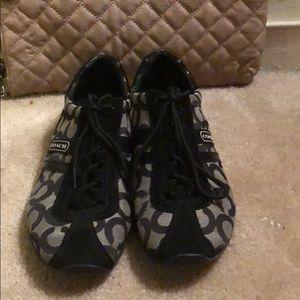 Coach Shoes - Coach black and grey tennis shoes